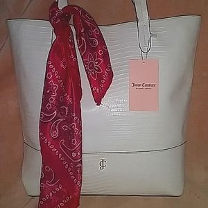 🔥NWT Juicy Couture Leather Tote Bag